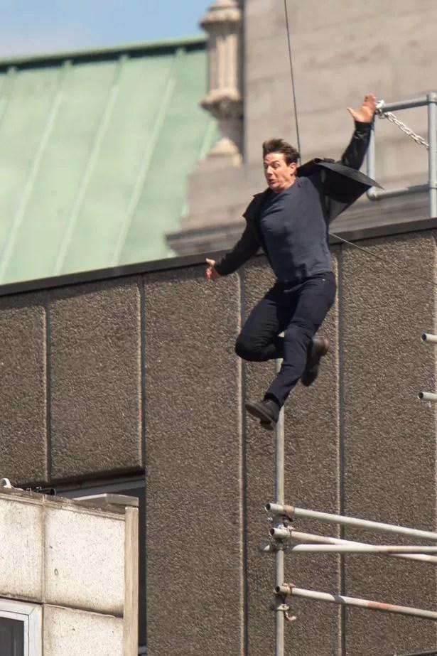 Tom jumped between the buildings (Image: WENN.com)
