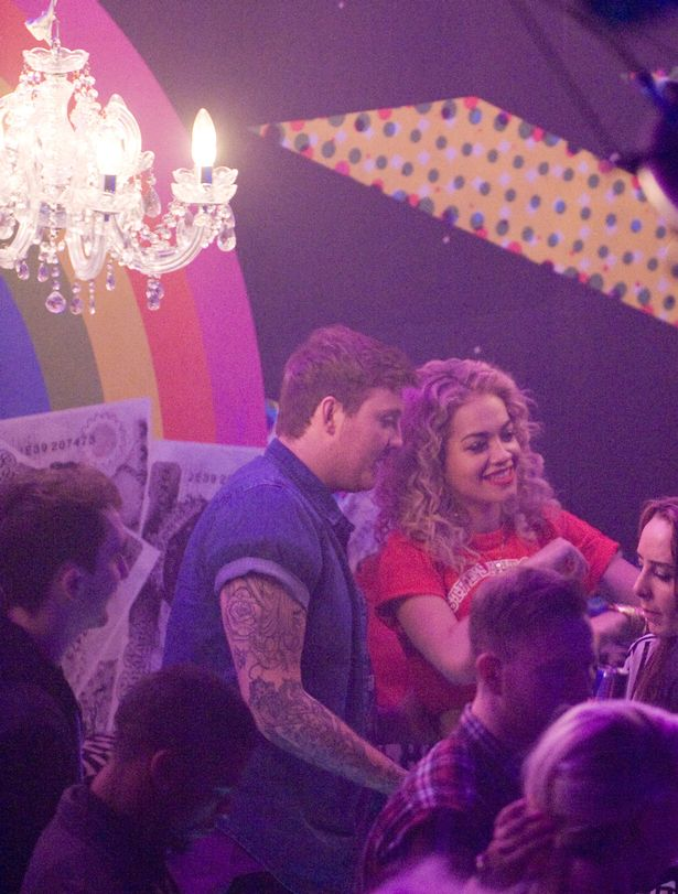 Rita Ora and James Aurthur together at the after show party