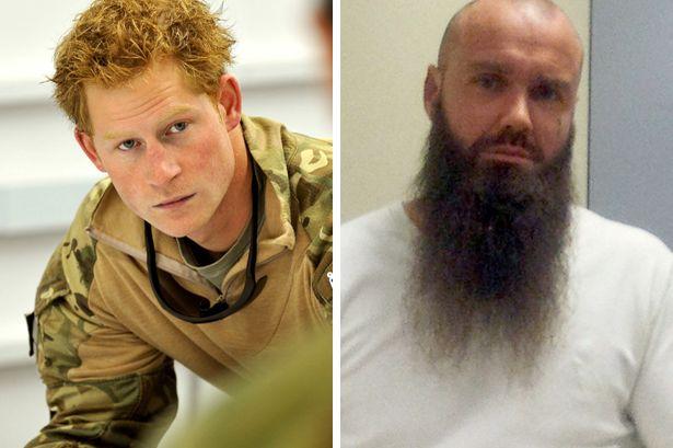 Plot: Prince Harry, left, and Ashraf Islam