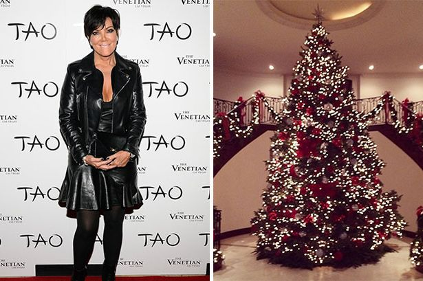 Kris Jenner Posts Picture Of Her ENORMOUS Christmas Tree