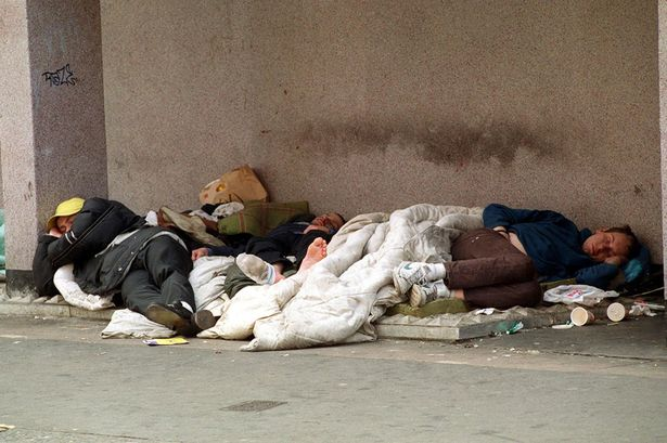 On the rise: Homeless people sleeping rough in London