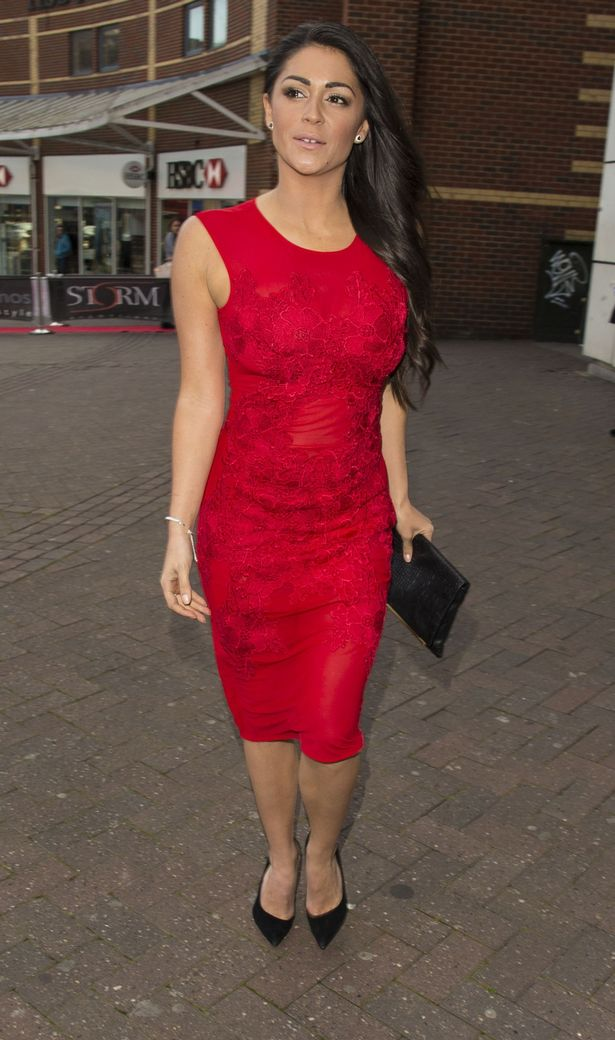 Casey Batchelor is seen arriving at the Southend Film Awards