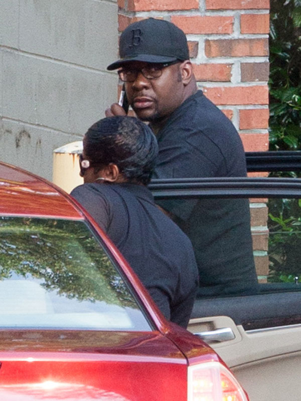 Bobby Brown looked to be crying upon leaving the Peachtree Christian Hospice