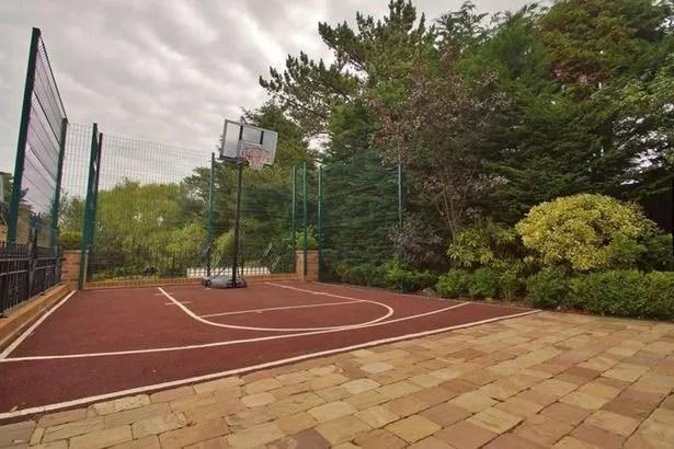 Basketball court in the garden