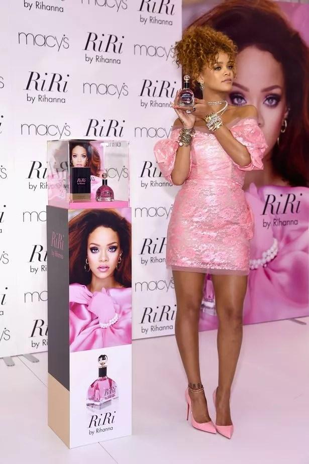 Singer Rihanna attends the RiRi by Rihanna fragrance