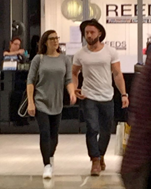 Kym Marsh spotted shopping at the Trafford Centre with her ex-boyfriend and personal trainer Matt Baker