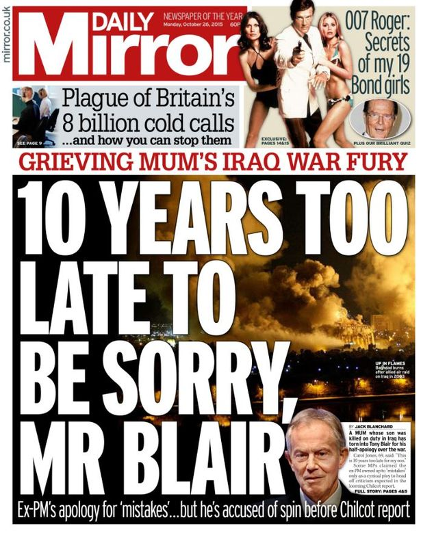 Image result for chilcot inquiry images