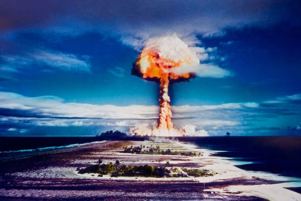 Apocalypse now: A nuclear bomb explosion over Mururoa Atoll, French Polynesia