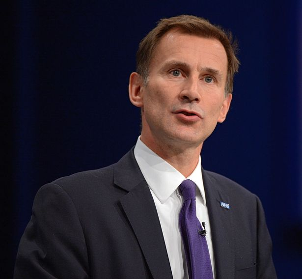 Health Secretary Jeremy Hunt at the Tory Conference, Manchester 2015