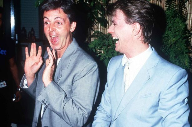 Paul McCartney singer with David Bowie