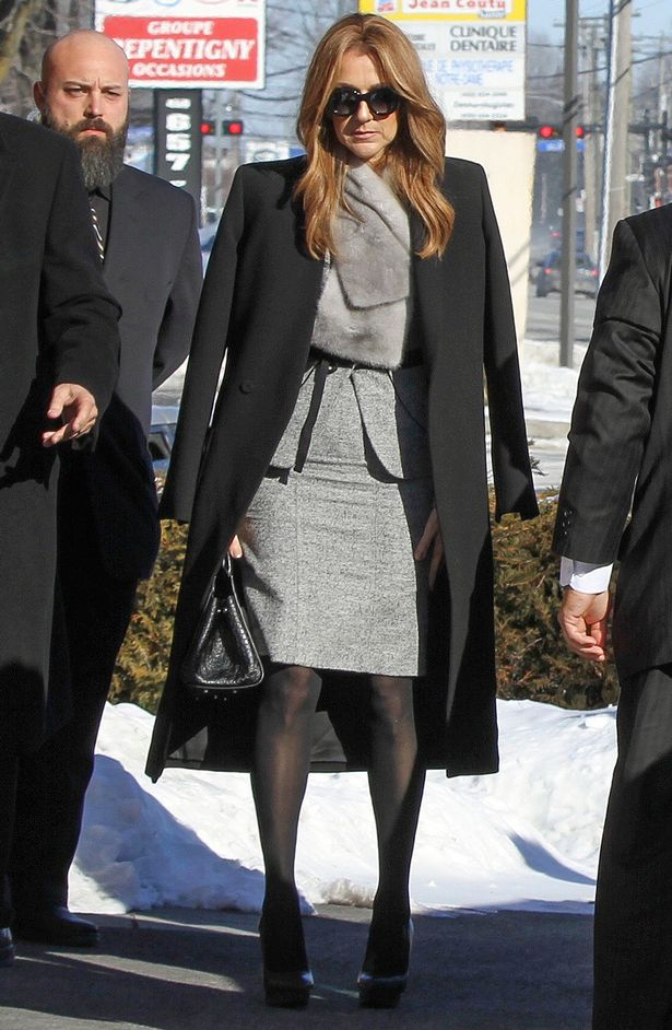 Celine Dion arrives at the funeral chapel to bury her brother Daniel in the town of Charlevoix, Quebec