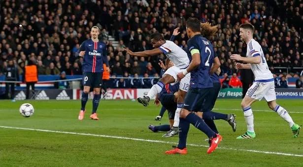 John Obi Mikel scores the first goal for Chelsea