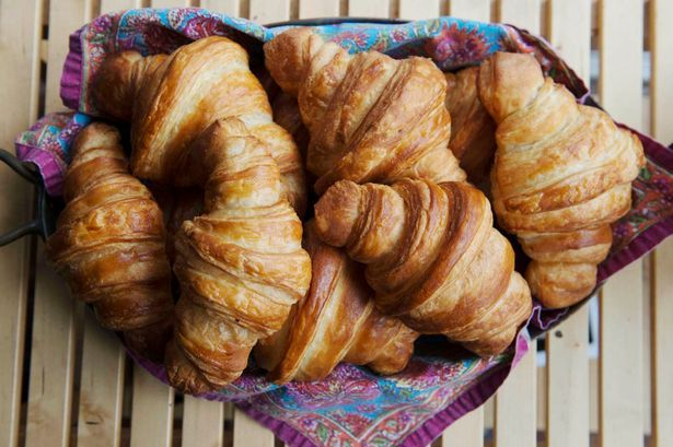 Croissants straight shaped