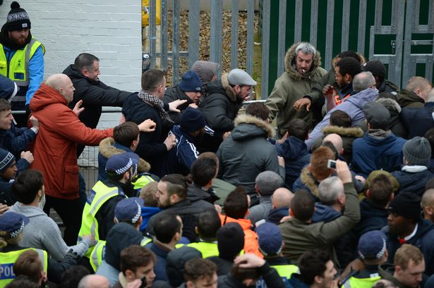 Trouble erupts outside the ground before kick off
