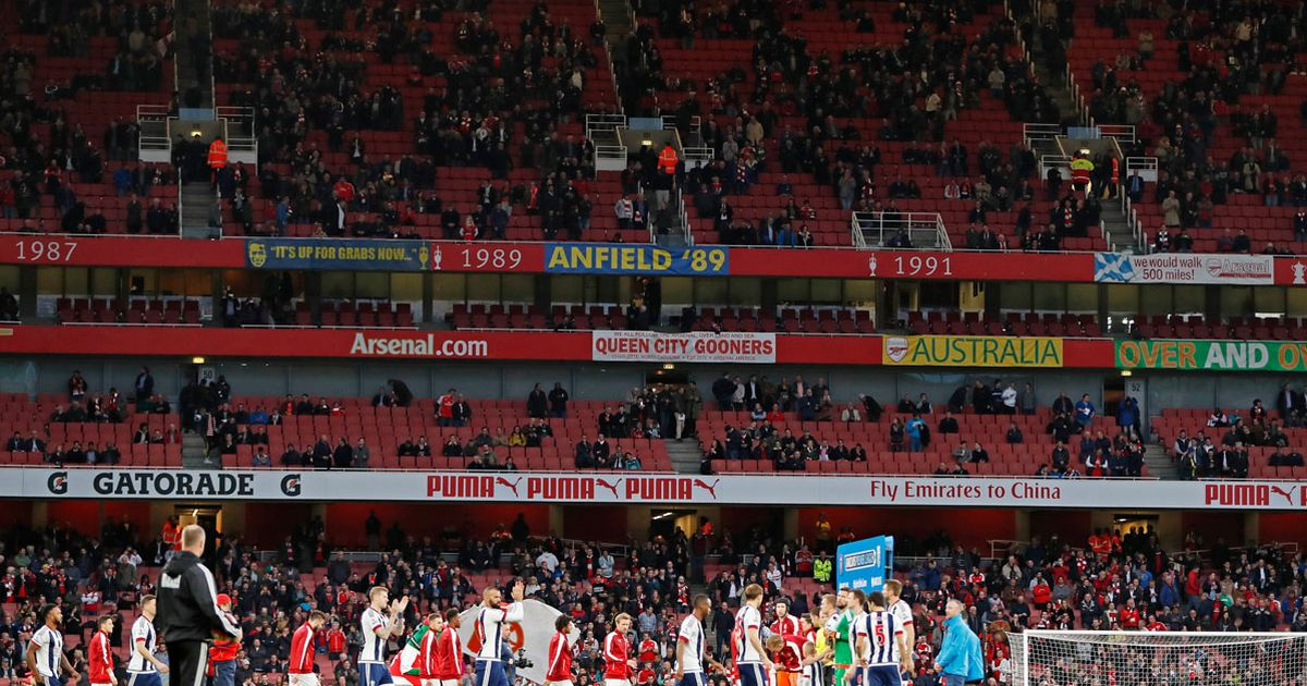 Image result for arsenal empty seats last night