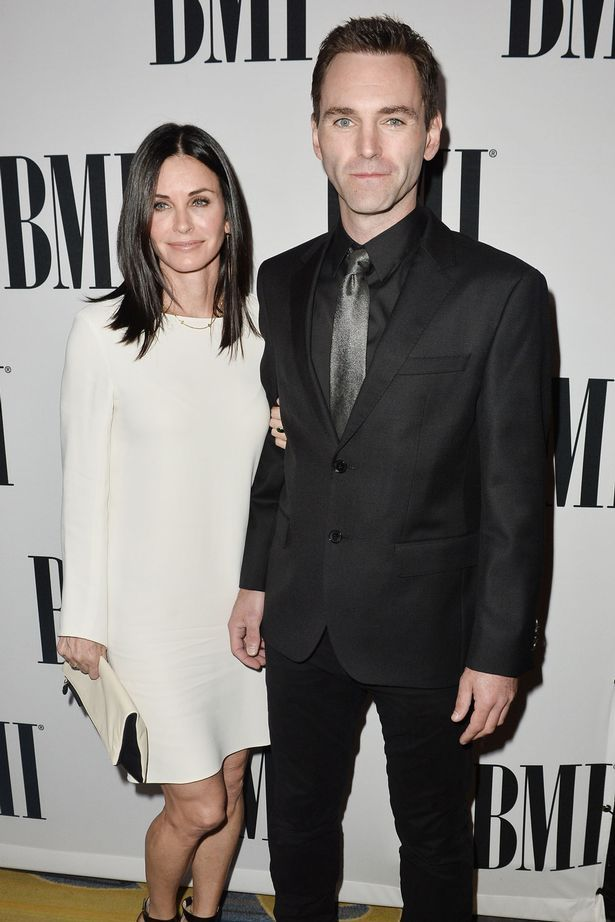 Courteney Cox and Johnny McDaid attending the 64th Annual BMI Pop Awards