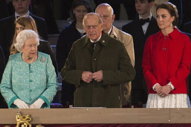 Queen Elizabeth II and Prince Philip, Duke of Edinburgh with Catherine