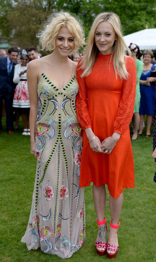Pixie Lott (left) and Fearne Cotton