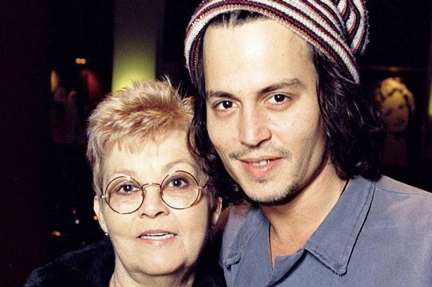 Johnny Depp and his Mother, Betty Sue Palmer