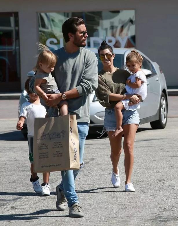 Kourtney Kardashian and Scott Disick were seen out with their kids in Malibu, California