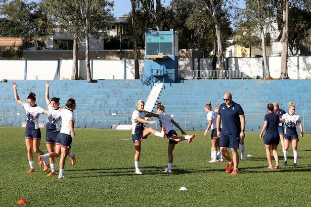 Team GB womens 7's during a training session