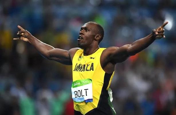 Usain Bolt of Jamaica celebrates after winning the Men's 200m Final