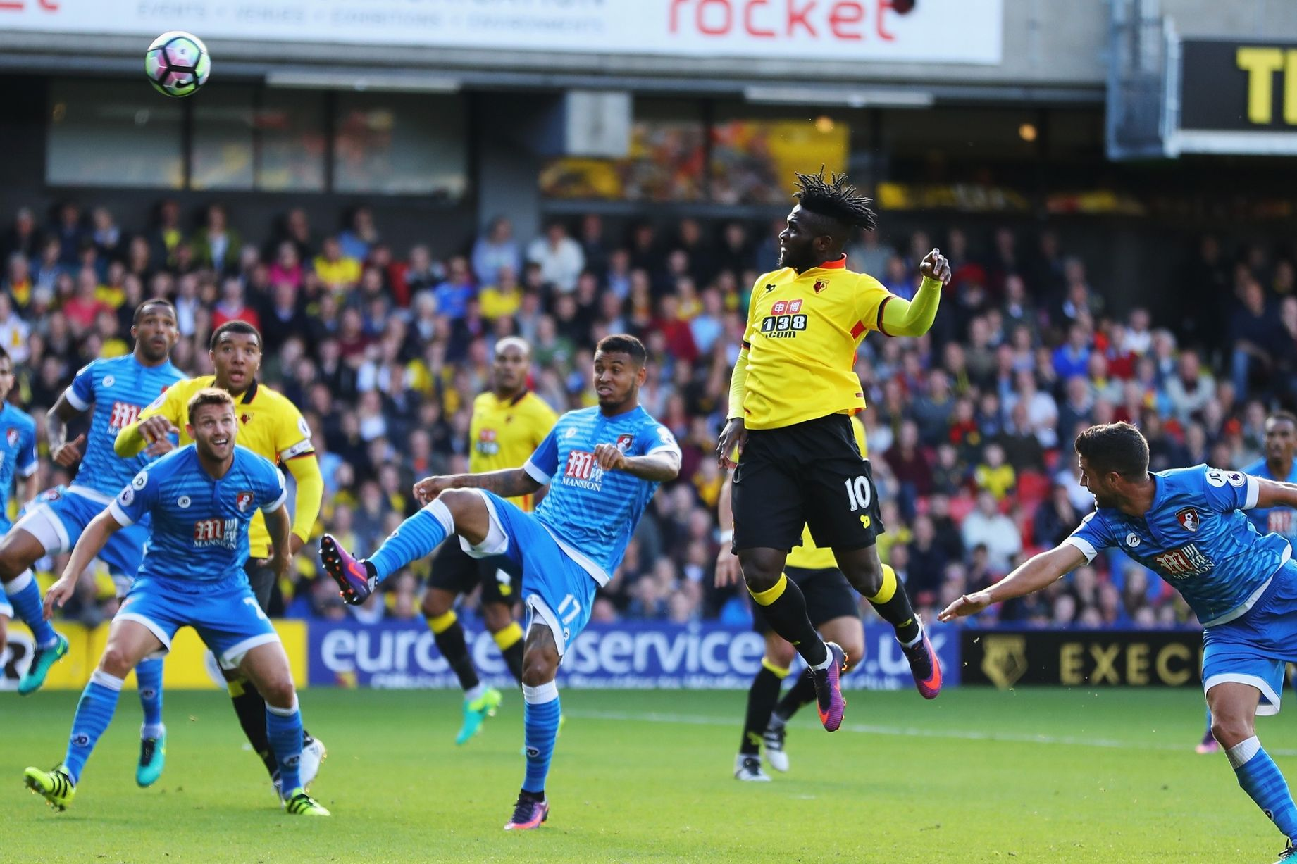 Isaac Success scores Watford's second goal