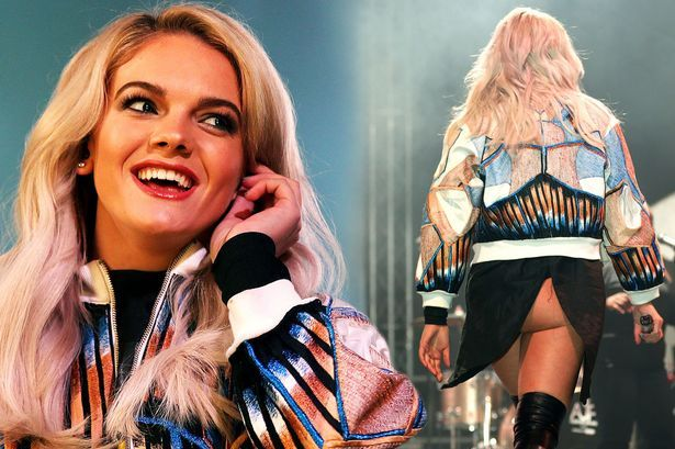 Louisa Johnson performs at Meadowhall Presents Christmas Live at Meadowhall Shopping Centre