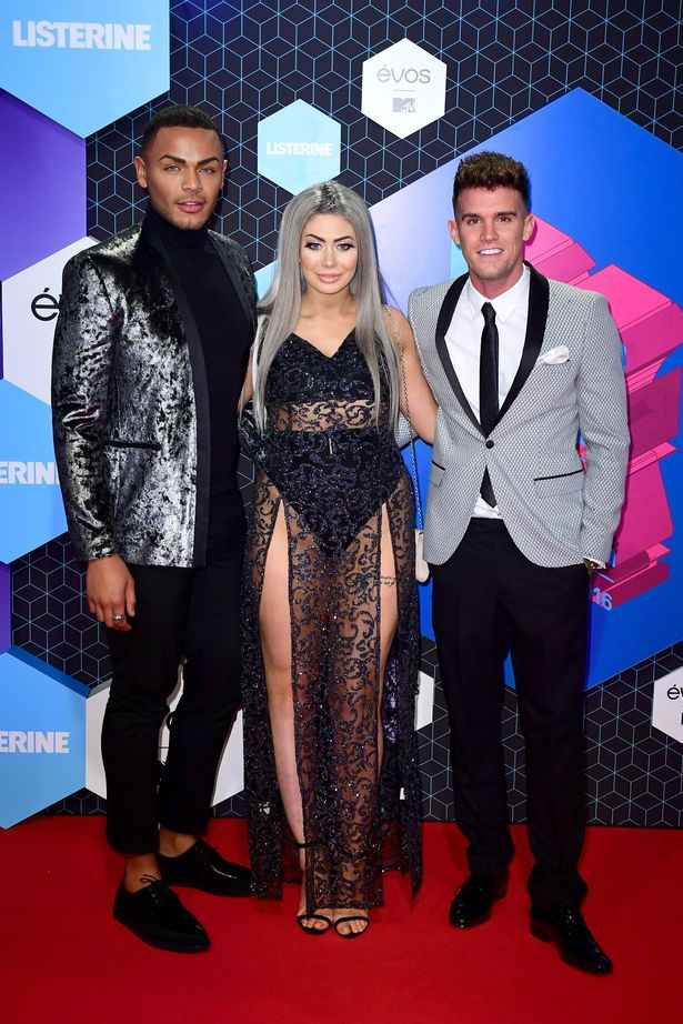 Nathan Henry, Chloe Ferry and Gary Beadle attending the European MTV Europe Music Awards