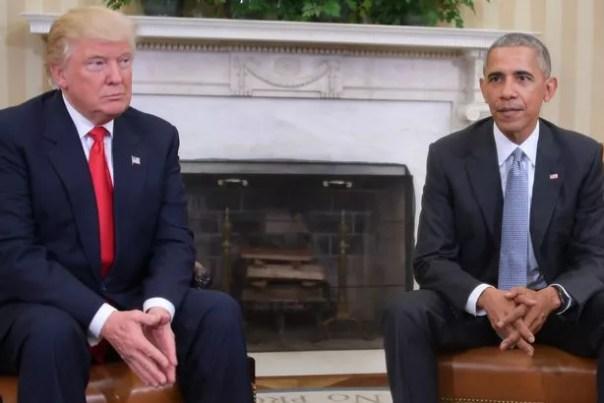 El presidente estadounidense Barack Obama se reúne con el presidente electo Donald Trump