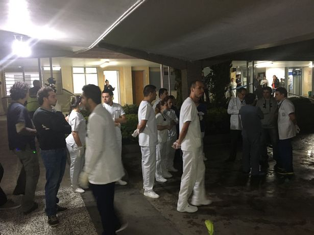 Doctors from a hospital in LaCeja waiting for wounded victims of the Chapecoense plane crash in Colombia