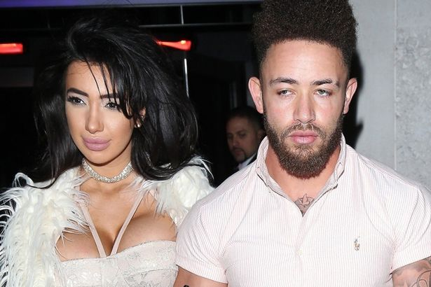 Couple Chloe Khan and Ashley Cain seen arriving at the Sixty6 Magazine launch party