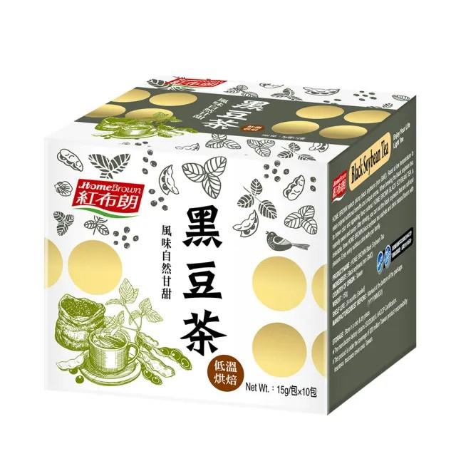 【紅布朗】黑豆茶15gX10包X1盒(黑豆水)