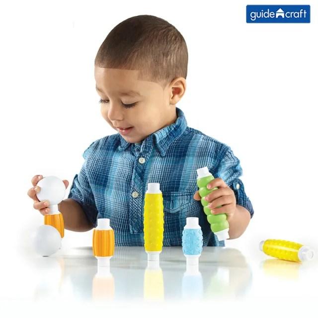 【GuideCraft】觸覺磁力積木-30件(STEAM玩具)