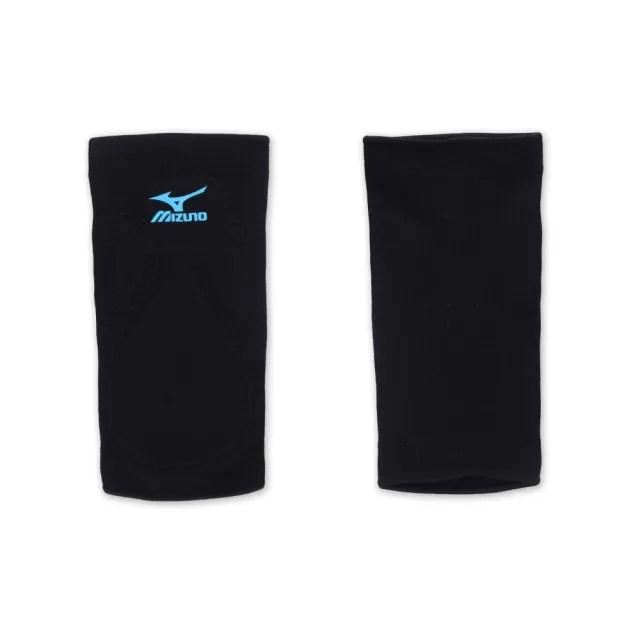 【MIZUNO】排球防撞運動護膝-巧固球 手球 一只入 美津濃 黑水藍(1DTLG60100-92)