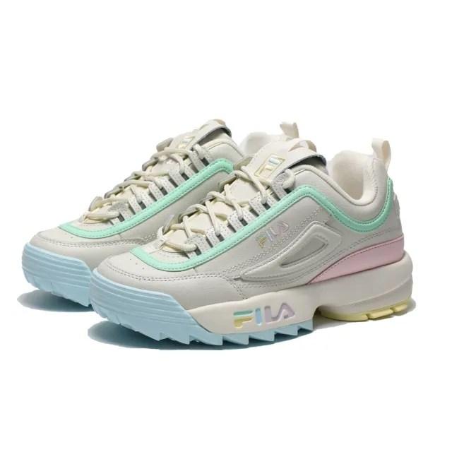 【FILA】休閒鞋 鋸齒鞋 繽紛糖果 老爹鞋 DISRUPTOR 2 女(4C113V792)