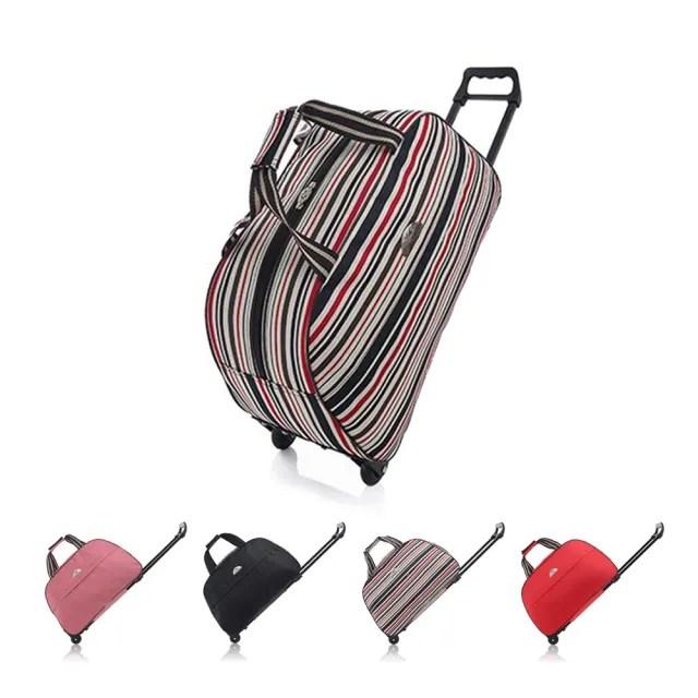 【Incare】韓系20吋大容量伸縮拉桿行李包(登機箱/行李箱)
