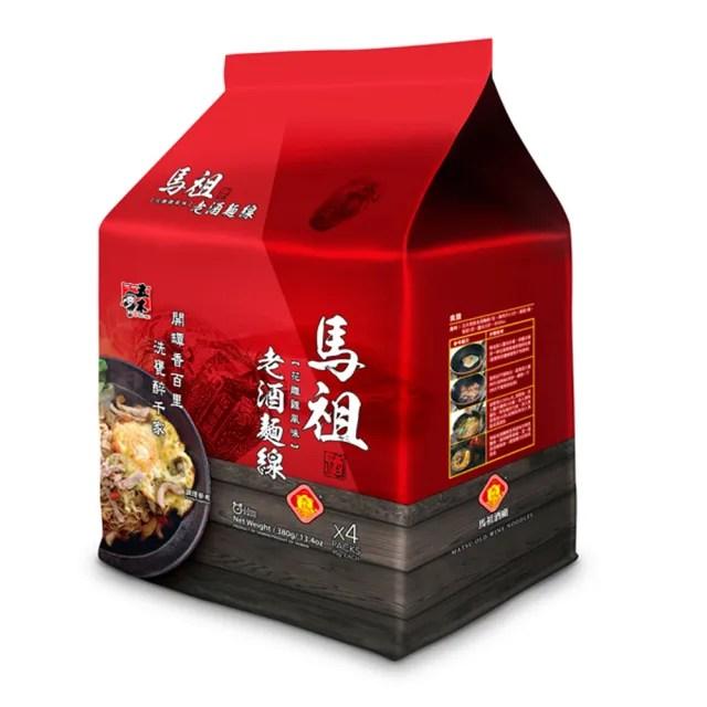 【五木】馬祖老酒麵線4入袋裝(花雕雞風味)