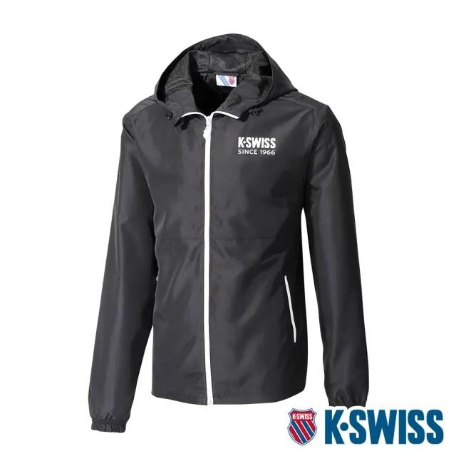【K-SWISS】防風外套 Color Zip Jacket-男-黑(104648-008)