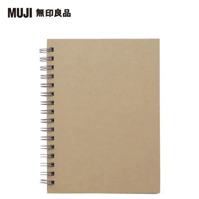 【MUJI 無印良品】雙環筆記本/空白/80張.A6.米