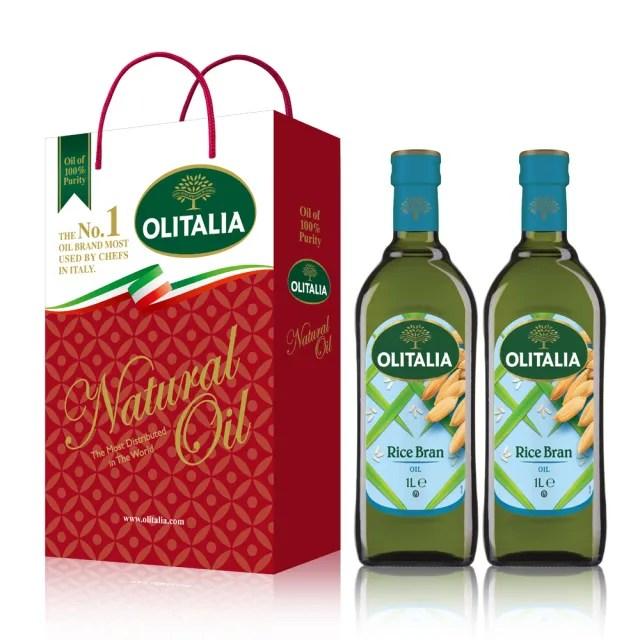 【Olitalia 奧利塔】玄米油禮盒組(1000mlx2瓶)