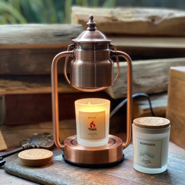 【Vana Candles】蠟燭暖燈 - 復古紅銅小暖燈 可調光(薰香燈 香氛燈 蠟燭燈)