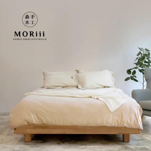 【MORiii 森手木工】新馬可 雙人加大6尺北美梣木 無床頭 實木床架