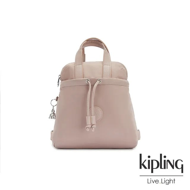 【KIPLING】溫柔沉穩粉造型三角後背包-GOYO MINI