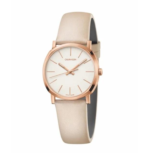 【Calvin Klein】CK極簡質感皮帶腕錶32mm(K8Q336X2)