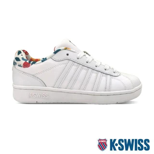 【K-SWISS】時尚運動鞋 Montara-女-白/印花(96922-199)