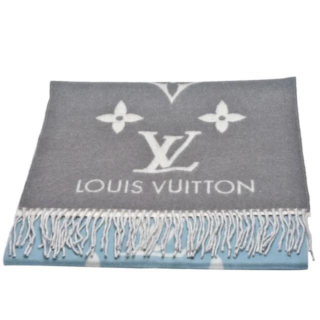【Louis Vuitton 路易威登】M70868 REYKJAVIK GRADIENT雙面彩色織花純棉披巾/圍巾(玫瑰藍)