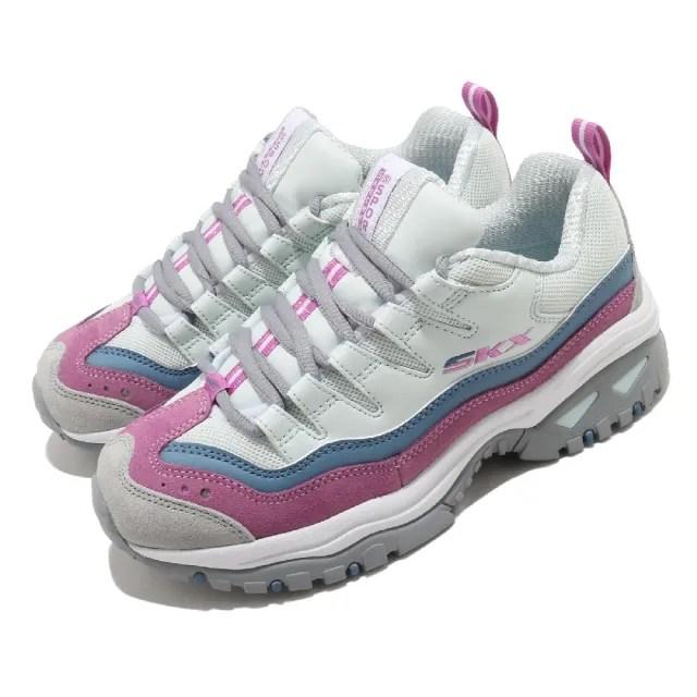 【SKECHERS】休閒鞋 Energy-Oh So Pretty 女鞋 老爹鞋 增高 修飾 避震 緩衝 穿搭 白 紫(149228BLPR)