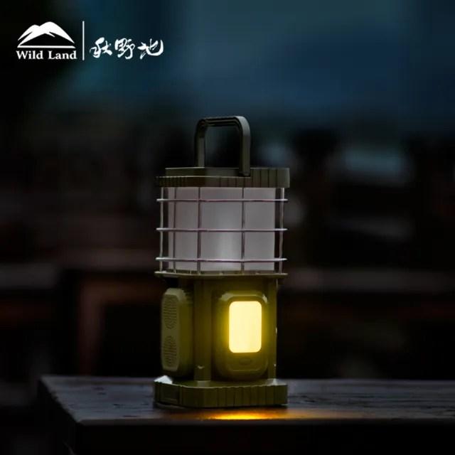 【秋野地】原上光 軍綠色驅蚊音響燈(掛燈 驅蚊燈 氣氛燈 音響燈 帳篷燈 露營燈 LED照明 電池營燈)