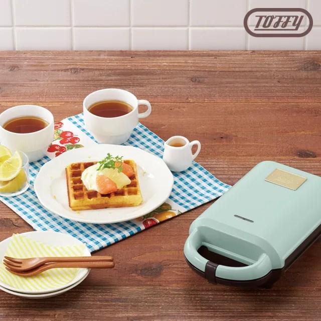 【日本Toffy】熱壓三明治機(K-HS2 附鬆餅及三明治烤盤)